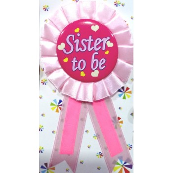 Baby Shower Sister To Be Badge