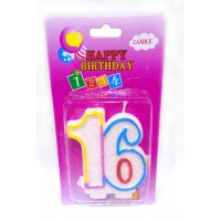 Sixteen Number Candle