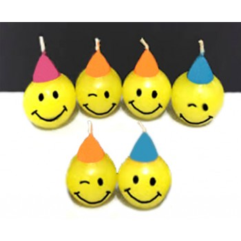 Smiley Candles (Pack of 6)