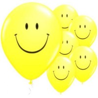 Smiley Printed LED Balloons (Pack of 5)