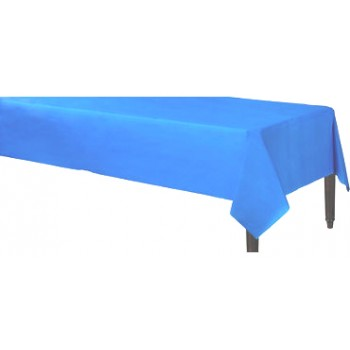 Solid Blue Color Plastic Table Cover