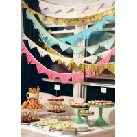 Tissue Paper Triangular Shape Garland (1 Pc)