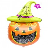 Trick and Treat Halloween Pumpkin Foil Balloon