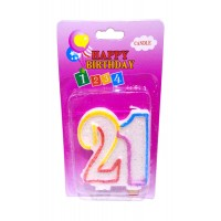 Twenty One Number candle
