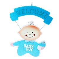 Welcome Baby Boy Hanging