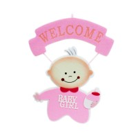 Welcome Baby Girl Hanging