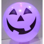 White Colour Pumpkin Face Printed Led Latex Balloons (Pack of 5)