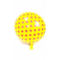 Yellow and Red Foil Balloon