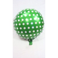 Green and White Foil Balloon