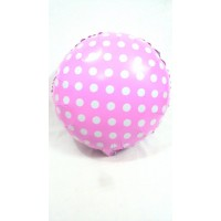 Pink and White Foil Balloon