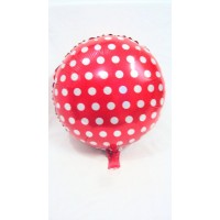 Red and White Foil Balloon