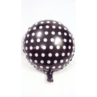 Black and White Foil Balloon