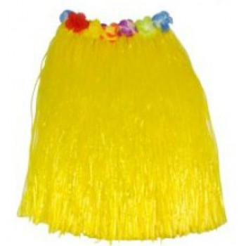 "30"" Yellow Hawaiian Theme Skirt"